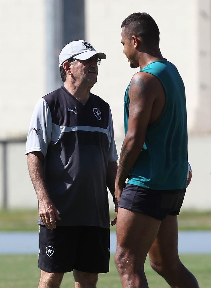 René Simões e Bill treino Botafogo (Foto: Carlos Moraes / Agência O Dia / Estadão Conteúdo)
