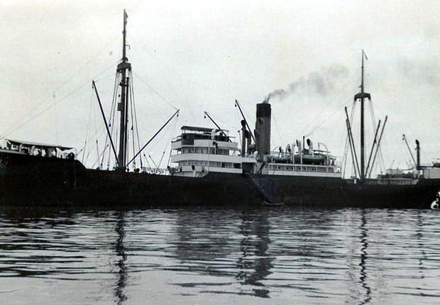 SS Porta, navio construído à semelhança do SS Minden que teria naufragado na costa islandesa (Foto: Reprodução/Facebook)
