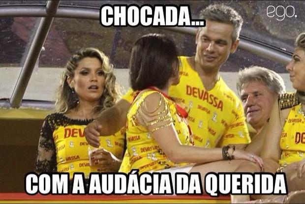 Flávia Alessandra meme (Foto: Marcos Ferreira / photo rio news)