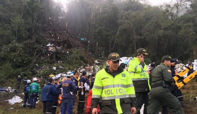 Avião Chapecoense (Foto: Policia Antioquia)