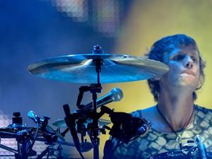 O baterista Dominic Howard no show do Muse no Rock in Rio 2013 (Foto: Flavio Moraes/G1)