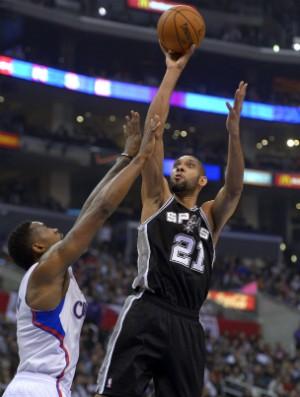 Tim Duncan, do San Antonio Spurs - AP (Foto: AP)