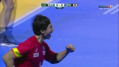 Gol do Japão! Kochi abre o placar, a 1 do 1º tempo