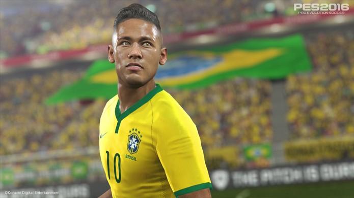 PES 2016 traz Neymar com gráficos impressionantes na nova geração (Foto: Reprodução/Spieletester)