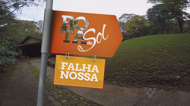 Quadro 'Falha Nossa' no Parque das Neblinas (Foto: Reprodução/TV Tribuna)