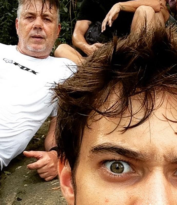 Guilherme com o seu pai, que mora em Minas Gerais (Foto: Arquivo Pessoal)