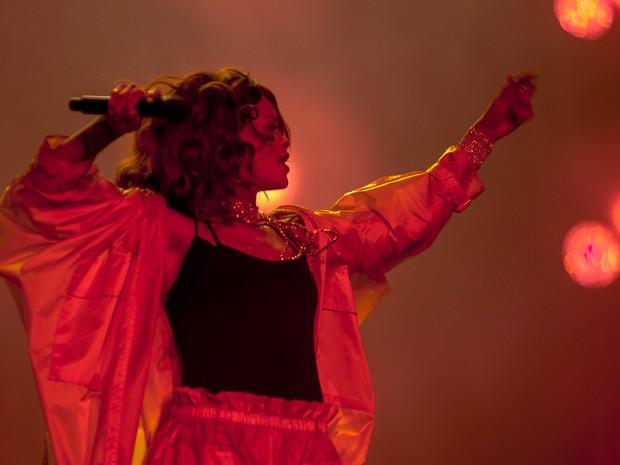 Rihanna toca no Palco Mundo neste sábado (26) (Foto: Luciano Oliveira/G1)