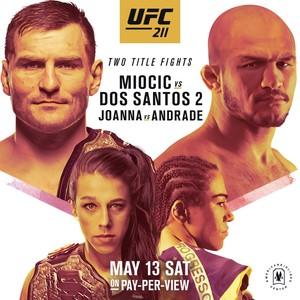 Pôster oficial UFC 211 (Foto: Reprodução)