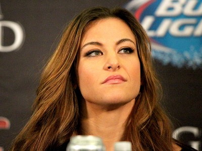 Miesha Tate coletiva UFC Las Vegas (Foto: Evelyn Rodrigues)