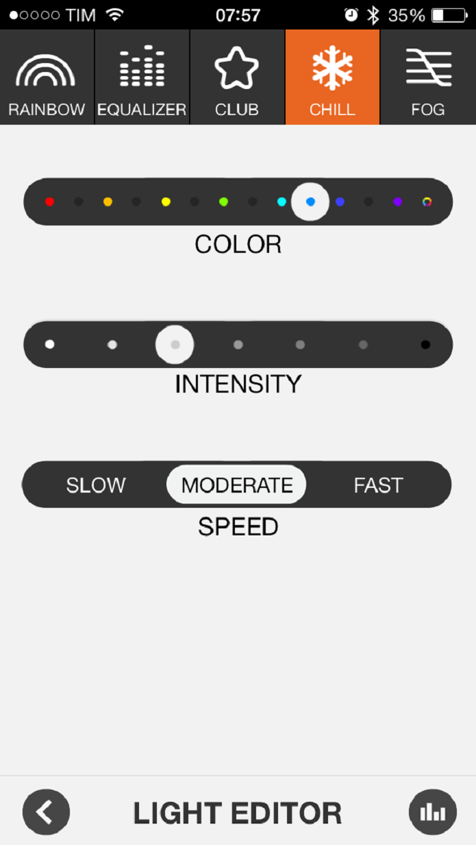 Aplicativo JBL Music utilizado com a caixa de som JBL Pulse (Foto: Reprodução/Juliana Pixinine)