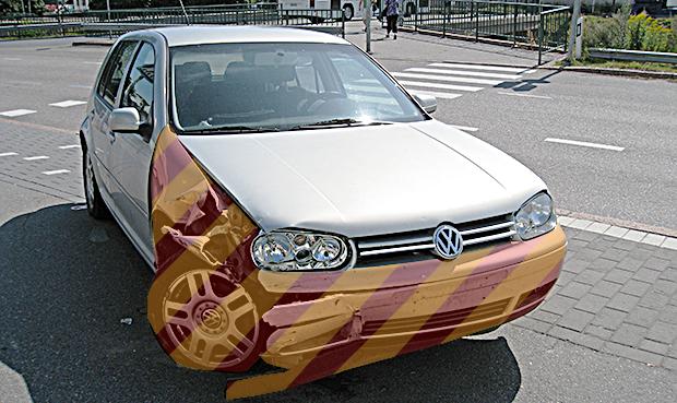Carro após acidente (Foto: Matti Mattila | Autoesporte)