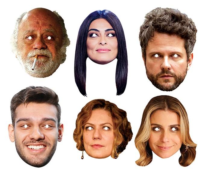 Personagens de várias novelas ganharam sua versão em máscara de carnaval (Foto: Daniel Chevrand / Gshow)