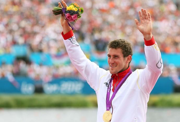 Sebastian Brendel Remo Pódio Olimpíadas de Londres 2012 (Foto: Getty Images)
