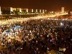 Ao custo de R$ 700 mil, réveillon do GDF leva 6 mil pessoas à Esplanada