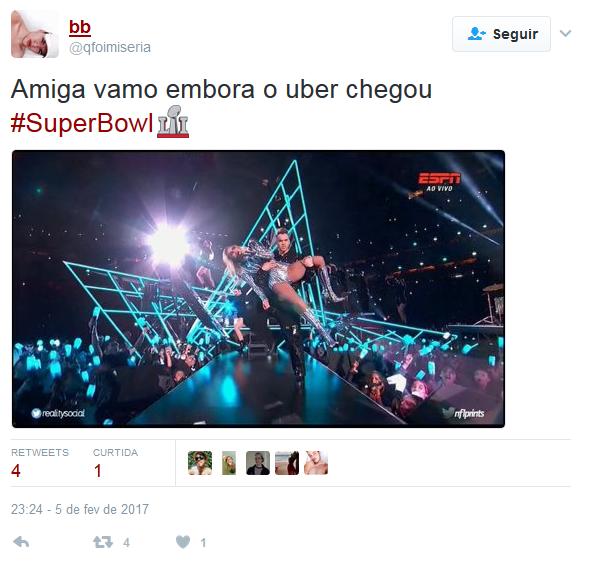 Performance de Lady Gaga e SuperBowl repercutem na web (Foto: Reprodução/Twitter)