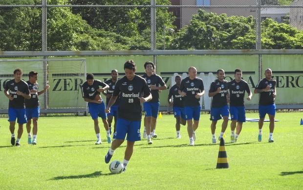 Jgadores do Grêmio treinam fisicamente no Olímpico (Foto  Hector  Werlang Globoesporte.com 0676955f86722