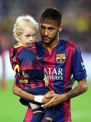 neymar filho  Barcelona x Celta de Vigo (Foto: EFE)