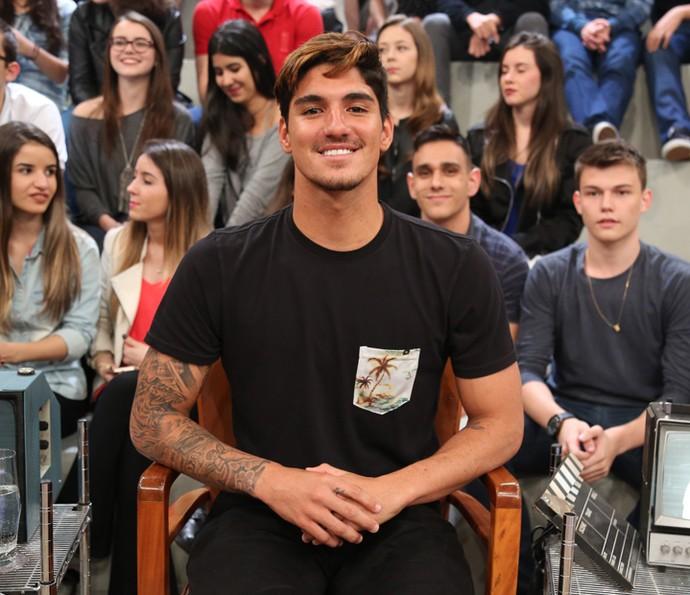 Gabriel Medina participa do programa Altas Horas (Foto: Carol Caminha/Gshow)