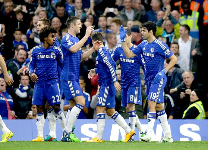 Diego Costa, Chelsea x West Bromwich (Foto: AP)