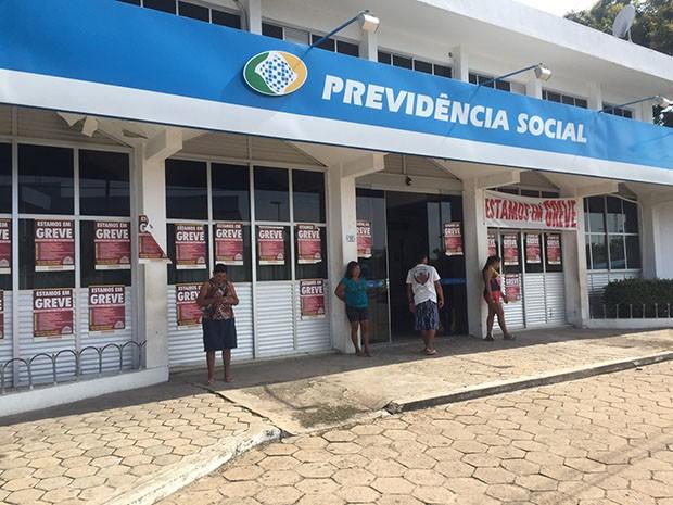 Greve dos servidores do INSS do RN começou no dia 7 de julho (Foto: Divulgação/Assessoria)
