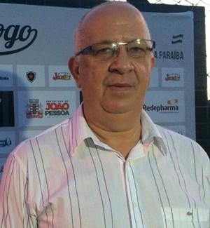 Guilherme Novinho, presidente do Botafogo-PB (Foto: Lucas Barros / GloboEsporte.com/pb)