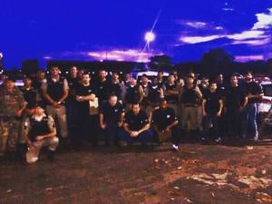 Operação da polícia em Planura (Foto: Polícia Civil/Divulgação)
