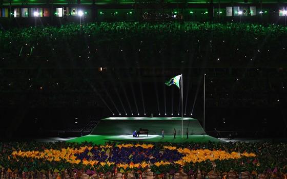 Cerimônia de abertura dos jogos Paraolímpicos do Rio de Janeiro (Foto:  Atsushi Tomura/Getty Images)