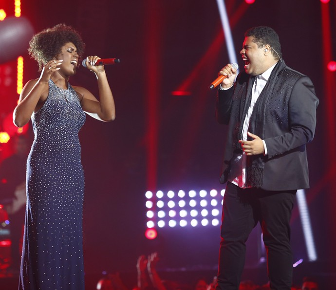 Mylena Jardim e Danilo Franco na Final do 'The Voice Brasil' (Foto: Artur Meninea/Gshow)