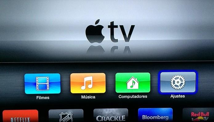Tela principal da Apple TV (Foto: Reprodução/Edivaldo Brito)