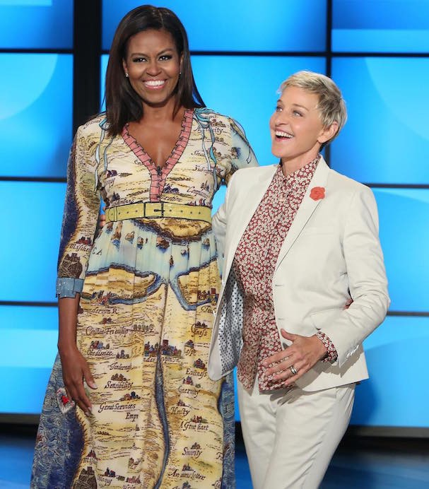 Michelle Obama e Ellen DeGeneres (Foto: Reprodução/Instagram)
