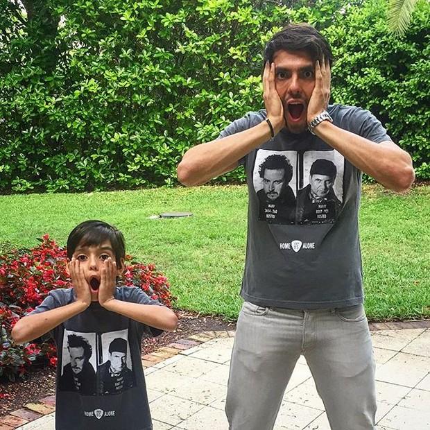 Kaká com o filho (Foto: Reprodução/Instagram)