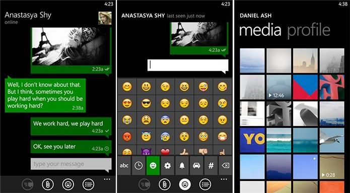 Migram é um cliente gratuito do mensageiro Telegram e ótima alternativa ao WhatsApp (Foto: Divulgação/Windows Phone Store)