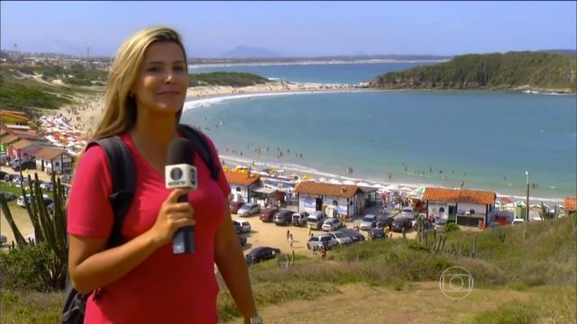 Repórter Thaise Cavalcante saiu de Maceió para conhecer as belezas do local. (Foto: Reprodução/ Jornal Hoje)