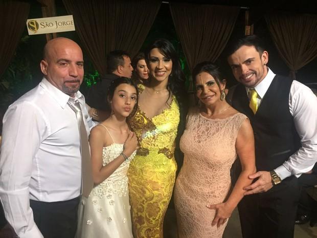 Carlos Marques, Anna Beatriz, Jenny Miranda, Gretchen e Odair Lopes (Foto: Arquivo pessoal)