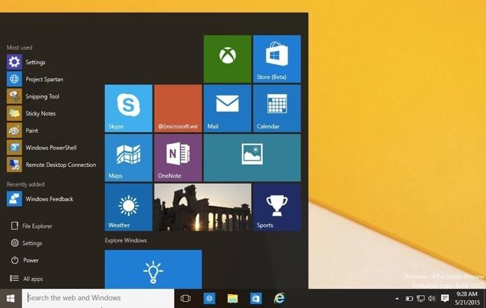 Windows RT vai ganhar atualização com novo menu Iniciar (Foto: Reprodução/Paulo Alves)