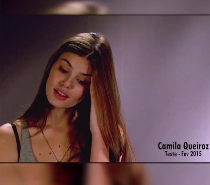 Primeiro episódio do webdoc mostra teste de Camila Queiroz para papel de Angel (Foto: Gshow)