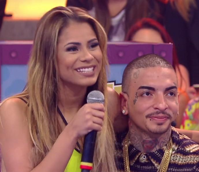 Lexa e MC Guimê mostram sintonia em jogo (Foto: TV Globo)