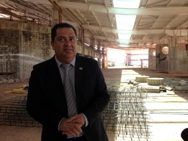 David Oliveira, superintendente da Infraero, na nova estrutura  (Foto: Thaís Pucci/G1)