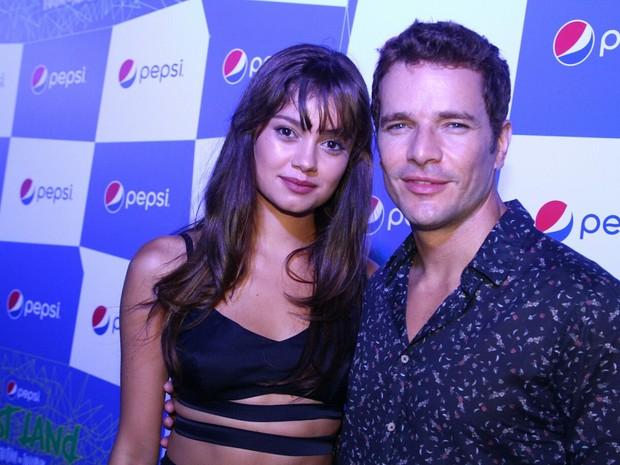 Sophie Charlotte e Daniel de Oliveira em evento no Centro do Rio (Foto: Anderson Borde/ Ag. News)