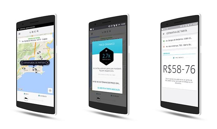 Uber trabalha com esquema de preço dinâmico que pode confundir usuário (Foto: Reprodução/Elson de Souza)