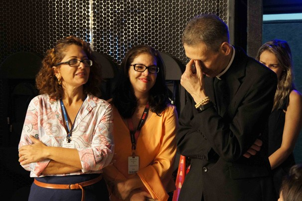 Padre Marcelo Rossi se emociona (Foto: Alysson Bernardo/TV Cabo Branco)