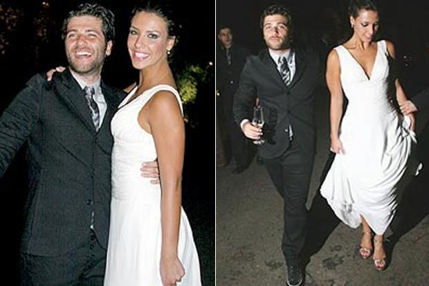 CASAMENTOS - Bruno Gagliasso e Camila Rodrigues  - 2006 (Foto: Reprodução)