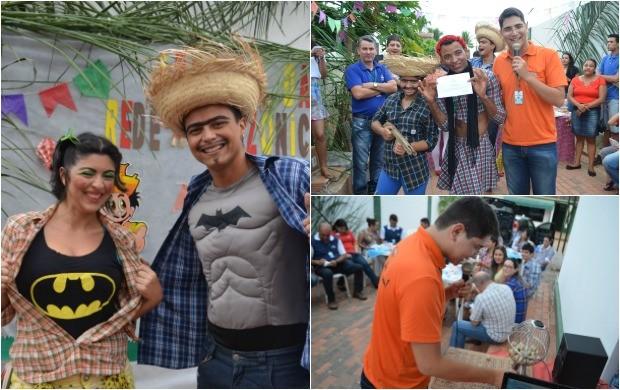 Festa Junina teve direito a concurso de melhor casal caipira e bingo com vários brindes (Foto: Murilo Lima)