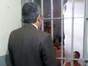 Juiz da Vara da Execuções Penais, Henrique Baltazar, visita CDP em Natal (Foto: Sérgio Henrique/Inter TV Cabugi)