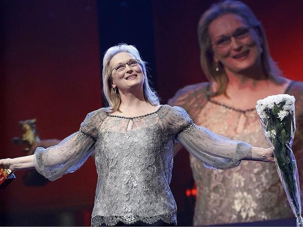 Meryl Streep no Festival de Berlim 2012 (Foto: Fabrizio Bensch/Reuters)