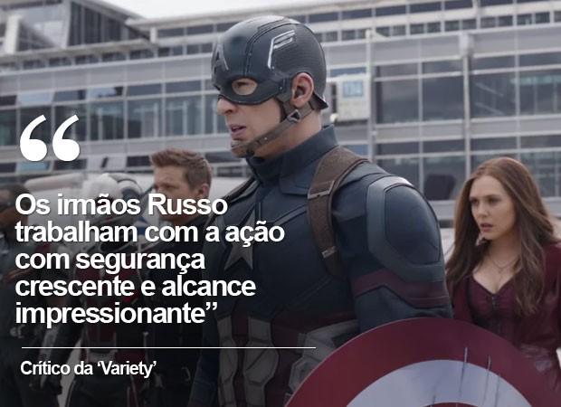 crítica da 'Variety' a 'Capitão América: Guerra civil' (Foto: G1)
