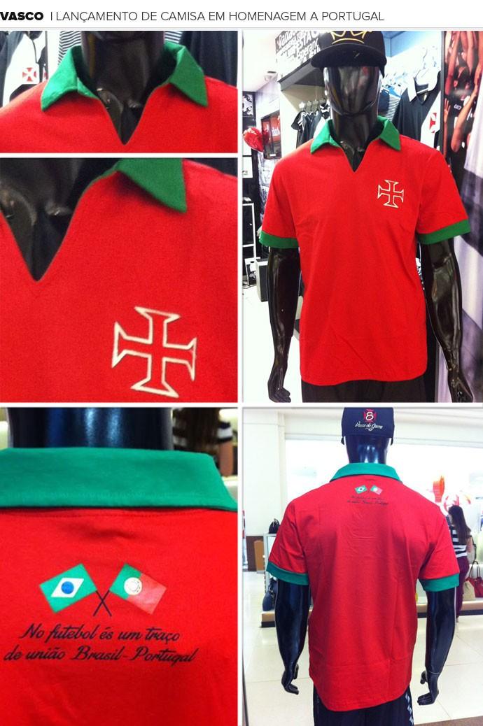 c48b7b7c52 Vasco lança camisa em homenagem a Portugal que será entregue a CR7 ...
