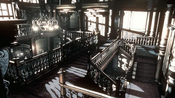 Mansão de Resident Evil em sua versão HD. (Foto: Divulgação)