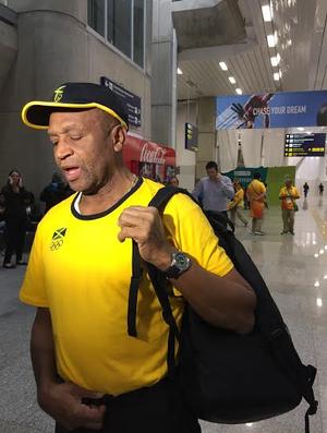 Gerente de atletismo da Jamaica (Foto: Viviane Leão)