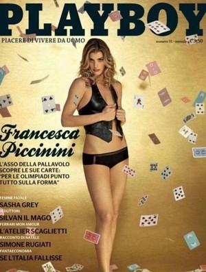 playboy francesca piccinini musa vôlei itália (Foto: Reprodução)